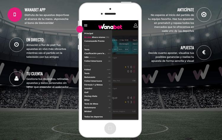 Conoce la versión móvil y la app del casino Wanabet-303