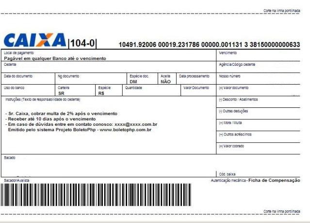 Boleto Bancario gratis bono en Brasil-997