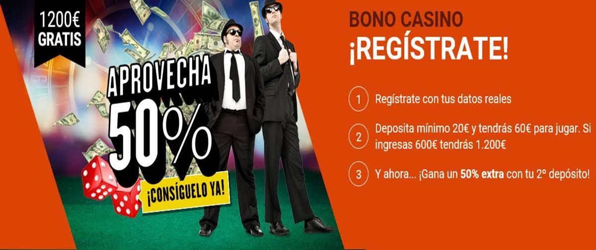 Bono de bienvenida del Casino de Luckia 1200€-910