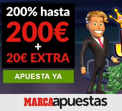 Bono MarcaApuestas de 200 € y 10€ extra casino en Chile-306