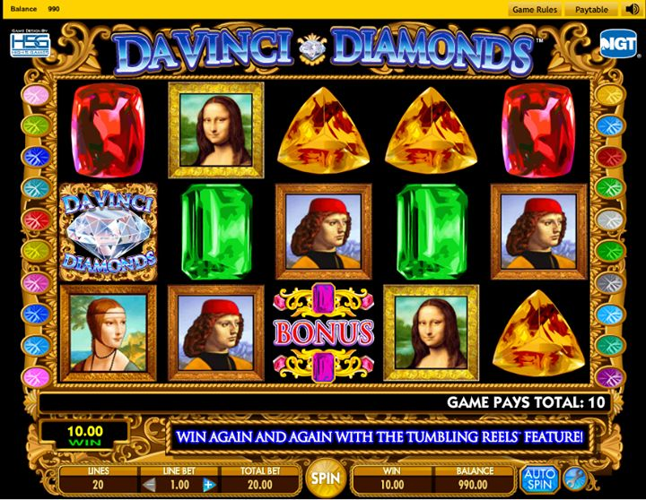 Jugar Gratis Da Vinci Diamonds Dual Play Tragamonedas en Linea-810
